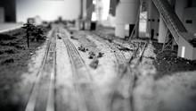 Tilt Shift Image Of Model Rail...