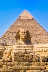 The Sphinx and Pyramid, Cairo, Egypt