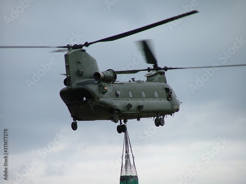 Valokuvatapetti Military Helicopter Carrying Box