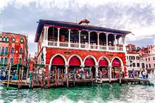 Venice Cityscape - Rialto Mark...