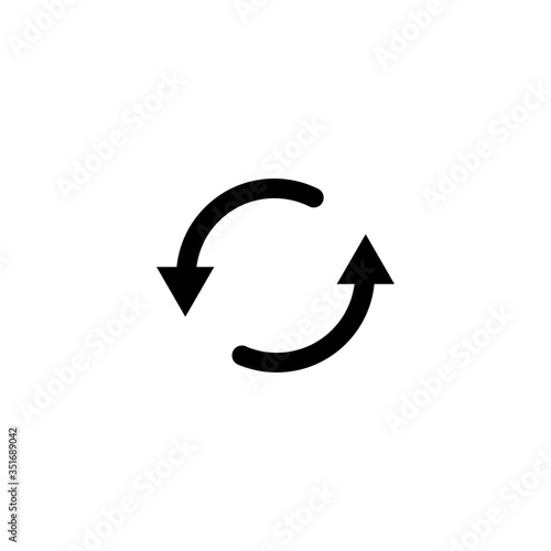 Fotografía arrow refresh icon vector illustration