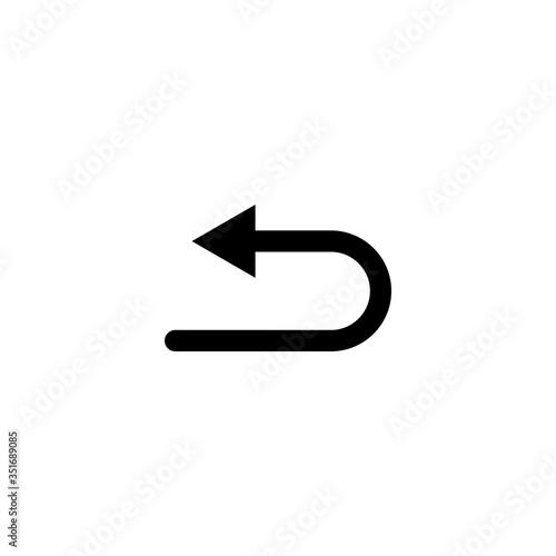 Obraz na plátně arrow refresh icon vector illustration