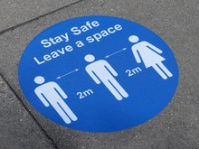 Stay Safe, Leave A Space Sign ...