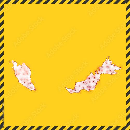 Malaysia closed - virus danger sign Canvas Print