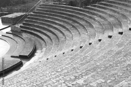 Canvastavla High Angle View Of Amphitheater