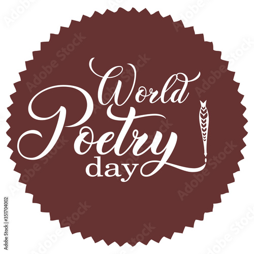 World poetry day. Perfect design .Vector illustration. Wall mural