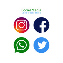 Social Media Vector Icon Set