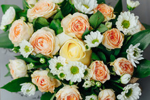 Various Flowers Bouquet, Close...
