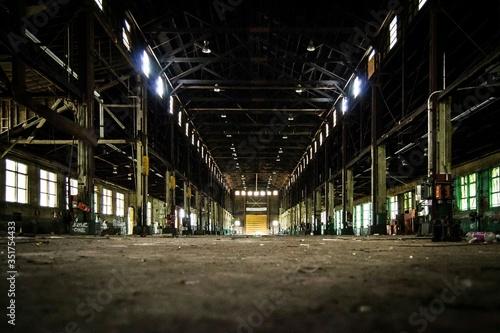 Fototapeta View Of Empty Warehouse obraz