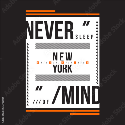 Photo nevermind, new york city text frame graphic typography design for t shirt print,