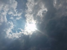Directly Above Shot Of Cloudy Sky On Sunny Day