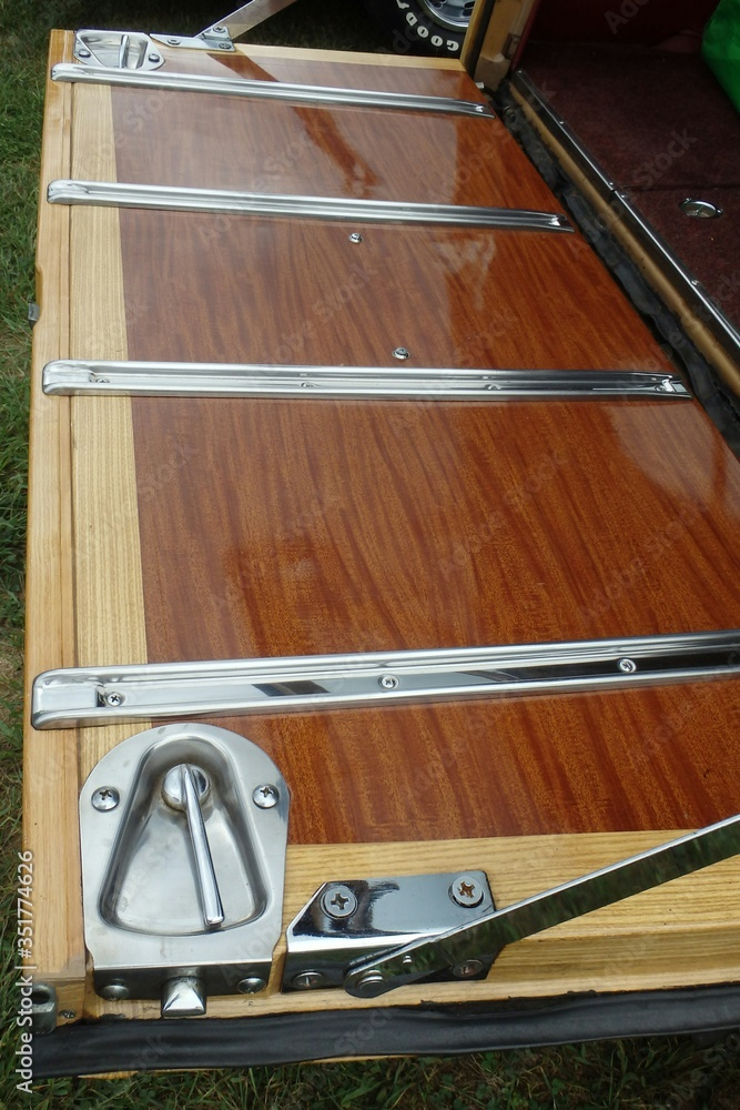 Fotografie, Obraz High Angle View Of Open Station Wagon Trunk Door