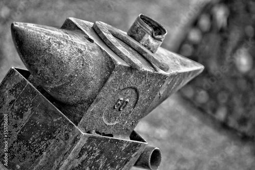 Photo Close-up Of Metallic Anvil