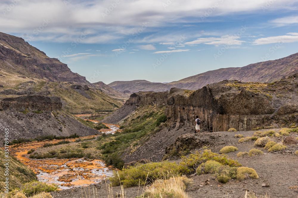 river between patagonia mountains