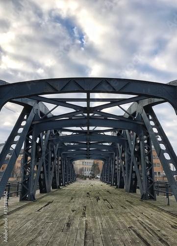 Canvastavla Footbridge Against Sky