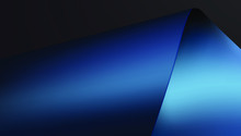 Blue Glossy Paper Or Silk And ...