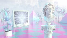 Aesthetic Vaporwave Statue Wit...