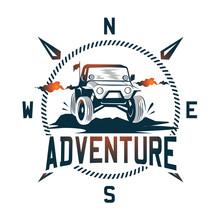 Adventure Car Logo Illustration With Vintage Themes