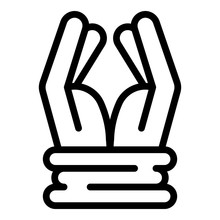 Prison Hands Tied Icon. Outlin...