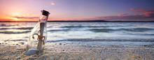 Romantic Sunset At The Beach W...