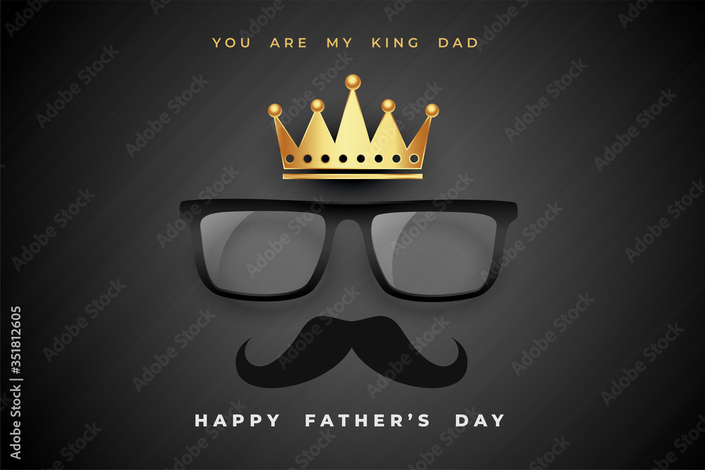 Fototapeta king dad fathers day concept poster design background