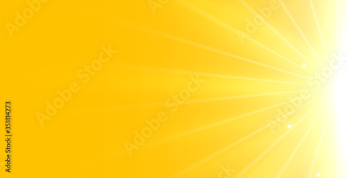 bright yellow background with glowing rays light Fototapet