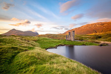 Sunset At Ardvreck Castle, Loc...