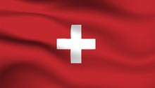 Flag Of Switzerland Background...