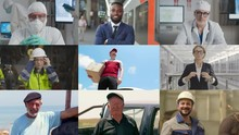 Collage Of Different People Demonstrating Different Professions