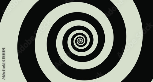 Black Spiral background. Vector Design Collection. Canvas Print