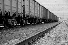 Railroad Rails In Russia. Con...