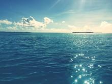 Shiny Sea Under Blue Sky