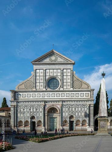 Canvas Print Basilica Of Santa Maria Novella Against Blue Sky
