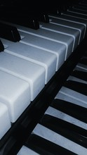 Close-up Of Piano Keyboard