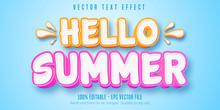 Hello Summer Text, Comic Style...