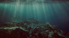 View Underwater Of Waves Break...