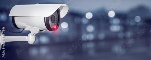 Fototapeta Überwachungskamera , Video, Sicherheit, 3D Rendering