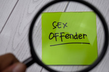 Sex Offender Write On Sticky N...