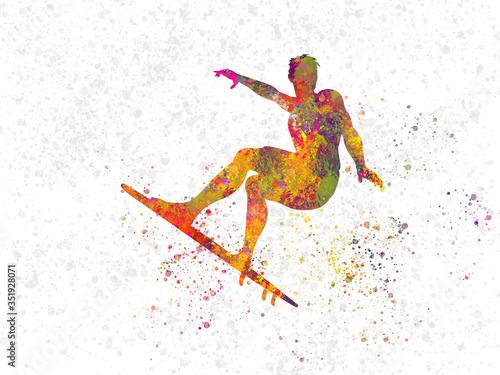 Photo Boy surfing