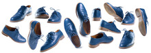 Set Of Classic Dark Blue Shoes...