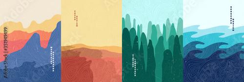 Fényképezés Vector illustration landscape