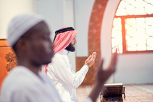 Two Religious Muslim Man Prayi...