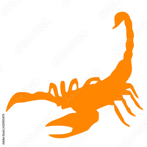 Vector image of a Scorpion Canvas Print