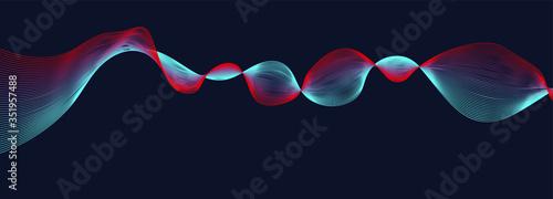Obraz na plátně abstract colorful vector background