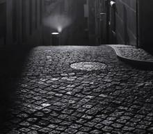 Cobblestones On Street