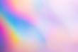 Holographic color wrinkled foil. Blur holographic rainbow color.