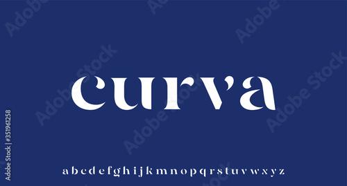 Tela CURVA, elegant luxury and glamour font beautiful alphabet vector