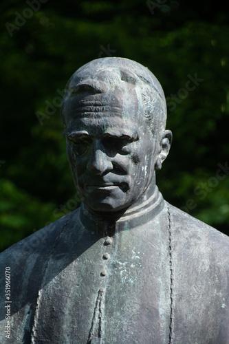 Photo the statue of Bishop Marton Aron from Sovata city Romania 23