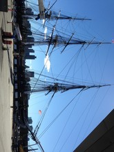 Uss Constitution Moored At Cha...
