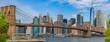 Brooklyn Bridge and Manhattan skyline as seen from Brooklyn Bridge Park, New York City
